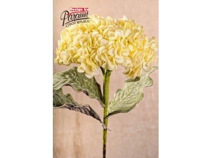 3 121Y dekorativní kvetina 56 cm žlutá
