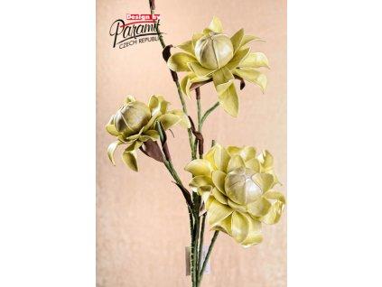 3 79G1 dekorativní květina 114 cm světle zelená
