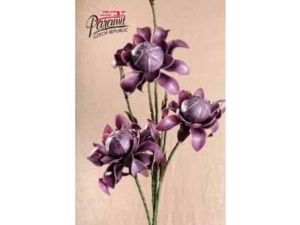 3 79L dekorativní květina 114 cm fialová
