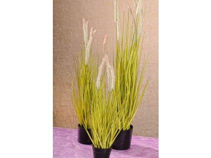 F205 56 Umělá vodní tráva s květy 56 cm