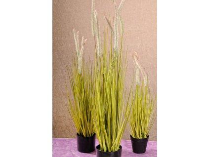 F205 91 Umělá vodní tráva s květy 91 cm