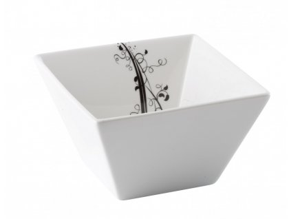 Porcelánová čtvercová miska 11 cm BLACK - by inspire 7741-00-02