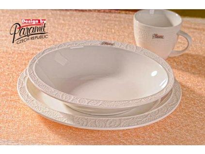 6519 polévkový talíř lísteček 22 cm