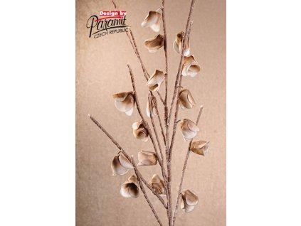 3 109B dekorativní květina hnědá