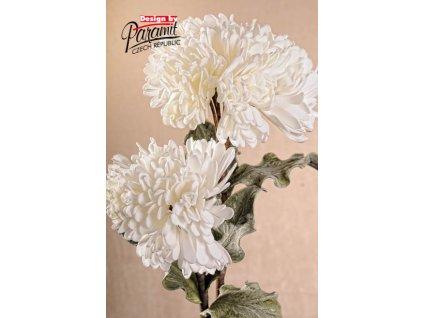 3 126W umělá květina 95 cm bílá