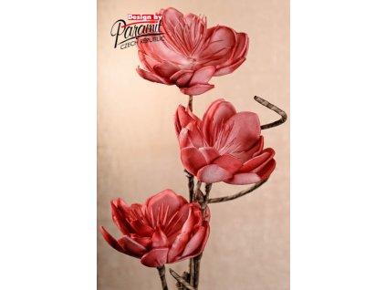 3 133R umělá květina růžová