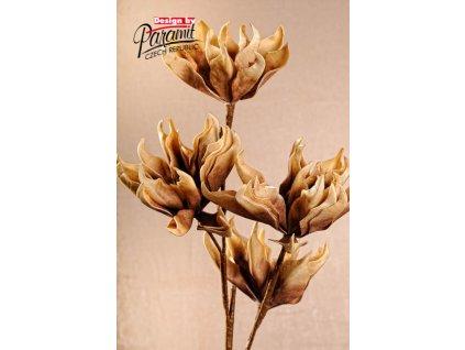 3 135B umělá květina 100 cm hnědá