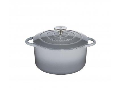 Litinový hrnec kulatý PROVENCE šedý - 24 cm - Küchenprofi - 0401001924