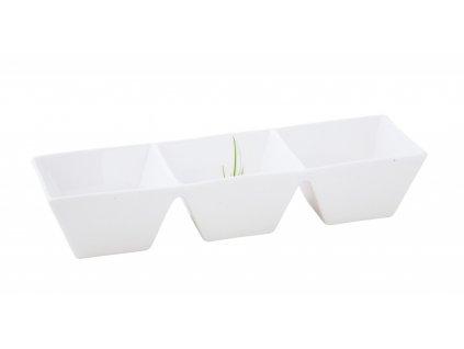 Porcelánová trojmiska Quadro 25 cm GRASS- by inspire