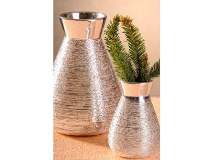 X1401 10S Marta Váza stříbrná 10 cm