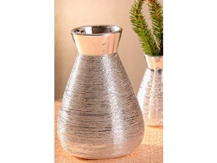 X141 16S Marta Váza stříbrná 16 cm