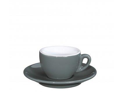 Šálek s podšálkem ROMA šedý 50 ml