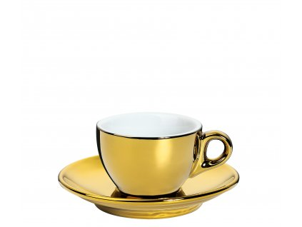 Šálek s podšálkem ROMA zlatý 50 ml
