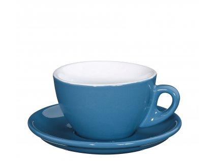 Šálek s podšálkem ROMA středně modrý 100 ml