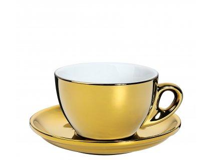 Šálek s podšálkem ROMA zlatý 100 ml