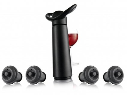 vakuova pumpa s 4 uzavery cerna vacu vin