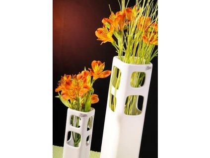 261 31W okenko váza bíla 31 cm