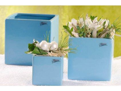 1023 B Obal na květináč 14x14x14 cm modrý