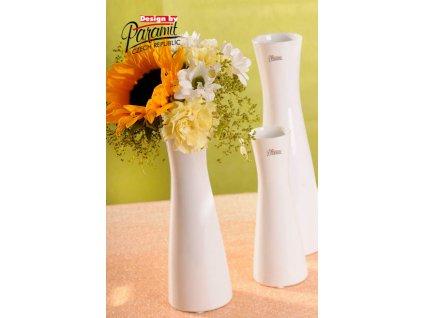 12095 25W váza Inka 22 cm bílá