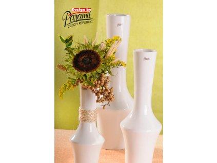 12096 27W váza Johana 27 cm bílá