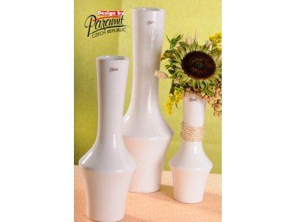 12096 36W váza Johana 36 cm bílá