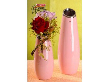 12098 26P váza Lake růžová 26 cm