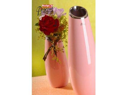 12098 36P váza Lake 36 cm růžová