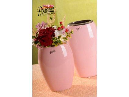 12099 20P váza oreo růžová 20 cm