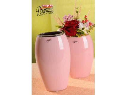 12099 24P váza Oreo růžová 20 cm