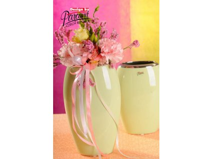12099 24G váza Oreo 24 cm zelená