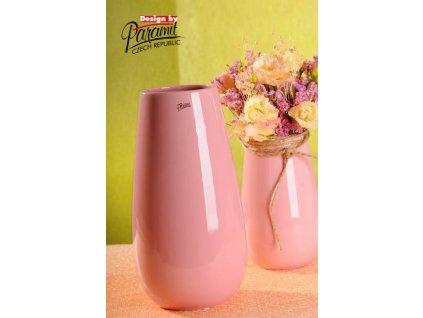 13010 30P váza Erna růžová 30 cm