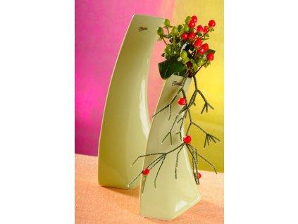 13011 28G Kos váza zelená 28 cm
