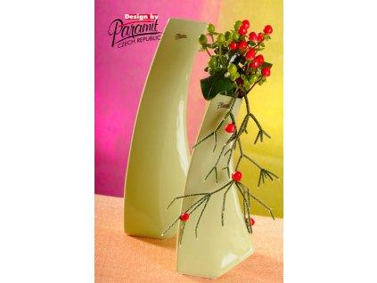 13011 28G váza Kos zelená 28 cm