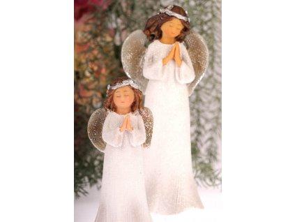 X157 14 Anděl Bulík modlící se 14 cm