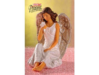 X160 anděl sedící glorie
