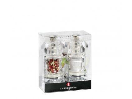 BERLIN - Set mlýnků pepř/sůl akryl 12 cm - Zassenhaus - 035612