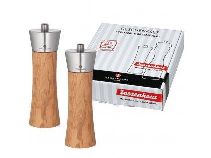 Set mlýnků AUGSBURG olivové dřevo 18 cm - Zassenhaus - 022971