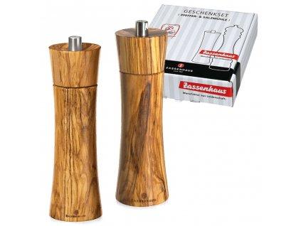 Set mlýnků FRANKFURT olivové dřevo 18 cm - Zassenhaus - 023046