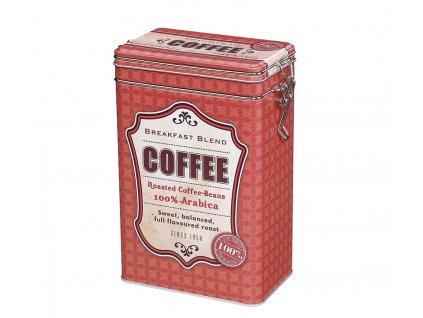 Dóza na kávu retro, červená - Zassenhaus - 067200