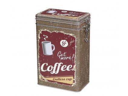 Dóza na kávu retro, hnědá - Zassenhaus - 067231