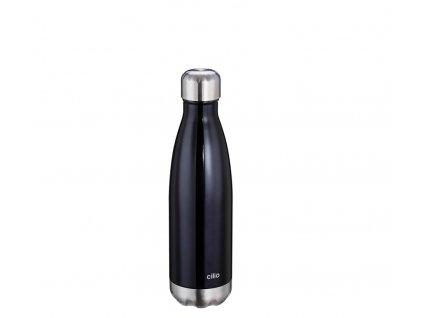 Termo láhev ELEGANTE metalicky černá 0,5 l - Cilio - 543438