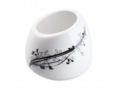 Porcelánová cukřenka 120 ml BLACK - bílá/černá - by inspire 8051-00-02
