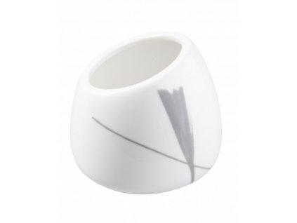 Porcelánová cukřenka 120 ml IRIS - bílá/červená/šedá - by inspire