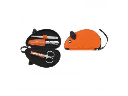 97483 002 Manikúra pro děti 3dilná CLASSIC INNOX myš oranžová Zwilling J.A. Henckels