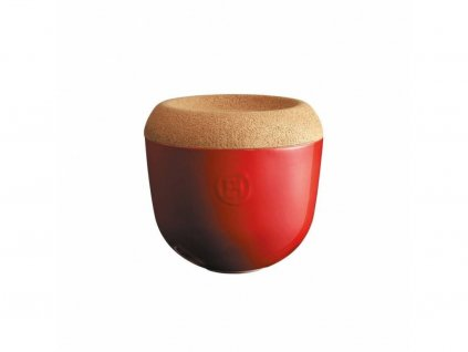 Miska na česnek a cibuli s korkovým víkem 1 l -granátová - Emile Henry - 348763