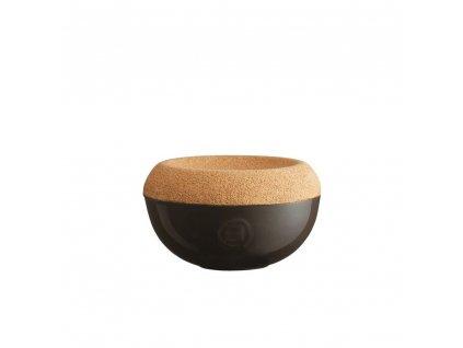 Dóza na sůl s korkovým víkem 0,5 l - pepřová - Emile Henry - 798761