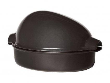Velký pekáč na drůbež, 41,5x22 cm - pepřová - Emile Henry - 798444