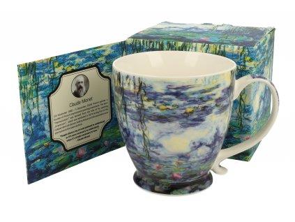 Claude Monet THe Water Lilies hrnek na stopce 450 ml Duo dárkové balení