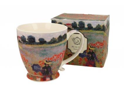 Claude Monet THe Poppy Field hrnek na stopce 450 ml Duo dárkové balení s krabičkou