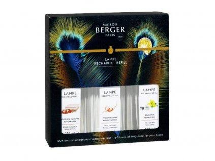 23955 Sada náplní do katalyckých lamp: Božské slunce, Kašmír, Intenzivní třpyt 3x250 mlod Maison Berger Paris